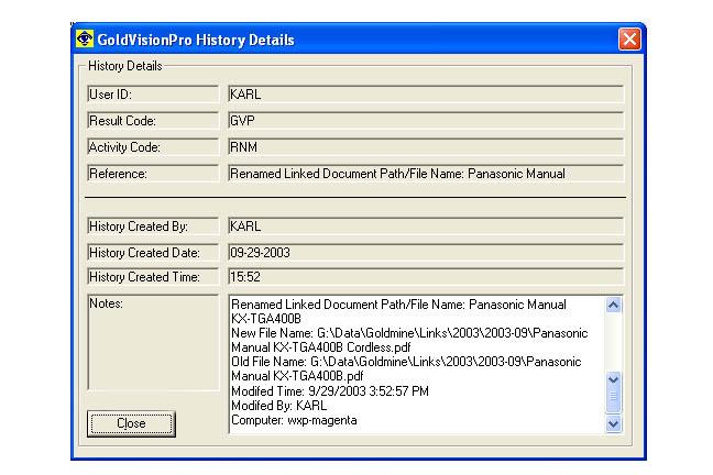 Goldvision Software | Link Center